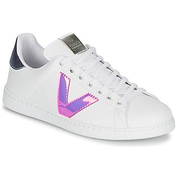 Sapatos Mulher Sapatilhas Victoria TENIS VINILO Branco / Azul