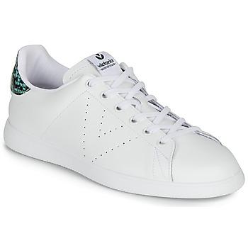 Sapatos Mulher Sapatilhas Victoria TENIS PIEL SERPIENTE Branco / Azul