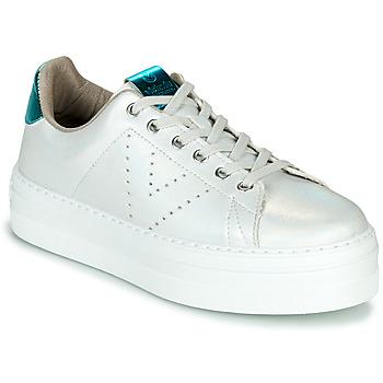Sapatos Mulher Sapatilhas Victoria BARCELONA METAL Branco