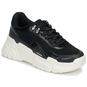 Sapatos Mulher Sapatilhas Victoria TOTEM Preto / Branco