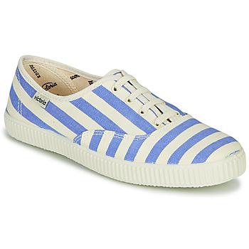 Sapatos Mulher Sapatilhas Victoria NUEVO RAYAS Branco / Azul