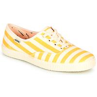 Sapatos Mulher Sapatilhas Victoria NUEVO RAYAS Amarelo / Branco