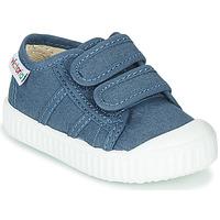 Sapatos Criança Sapatilhas Victoria BASKET VELCRO Azul
