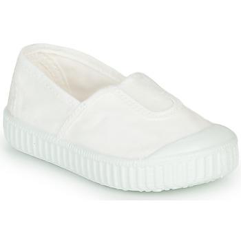 Sapatos Rapariga Sapatilhas Victoria CAMPING TINTADO Branco