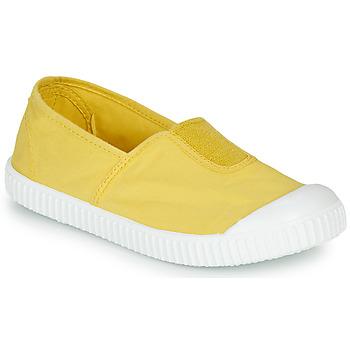 Sapatos Rapariga Sapatilhas Victoria CAMPING TINTADO Amarelo