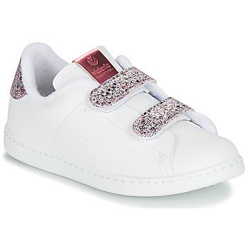Sapatos Rapariga Sapatilhas Victoria TENIS VELCRO G Branco