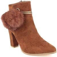 Sapatos Mulher Botins Azarey L Boot Lady Camel