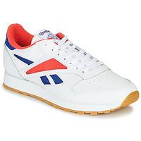 Sapatos Homem Sapatilhas Reebok Classic CL LEATHER MARK Cinza / Branco / Vermelho
