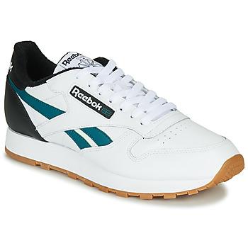 Sapatos Homem Sapatilhas Reebok Classic CL LEATHER MU Branco / Preto