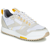 Sapatos Mulher Sapatilhas Reebok Classic CL LEATHER RIPPLE T Bege / Branco