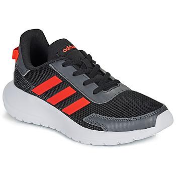 Sapatos Rapaz Sapatilhas adidas Performance TENSAUR RUN K Preto / Vermelho