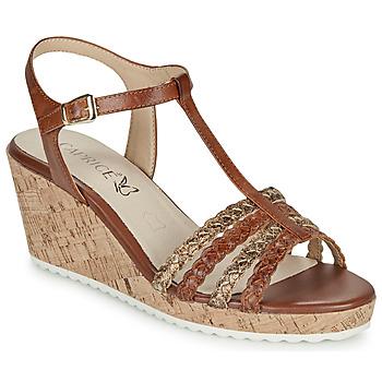 Sapatos Mulher Sandálias Caprice POUDALLE Conhaque
