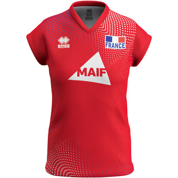 Textil Mulher T-Shirt mangas curtas Errea Maillot femme third Equipe de france 2020 rouge