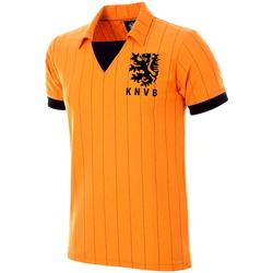 Textil Homem T-Shirt mangas curtas Copa Football Maillot rétro Pays-Bas 1983 orange