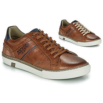 Sapatos Homem Sapatilhas Dockers by Gerli  Conhaque