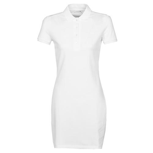 Textil Mulher Vestidos curtos Lacoste EUGENIE Branco
