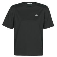 Textil Mulher T-Shirt mangas curtas Lacoste BERNARD Preto
