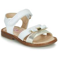 Sapatos Rapariga Sandálias Pablosky  Branco / Ouro