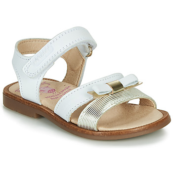 Sapatos Rapariga Sandálias Pablosky LOLLA Branco / Ouro