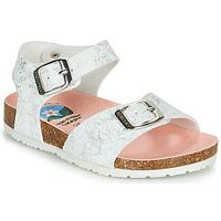 Sapatos Rapariga Sandálias Pablosky  Branco / Prata