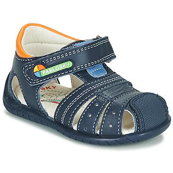 Sapatos Rapaz Sandálias Pablosky  Marinho / Laranja