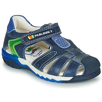 Sapatos Rapaz Sandálias Pablosky  Marinho / Verde