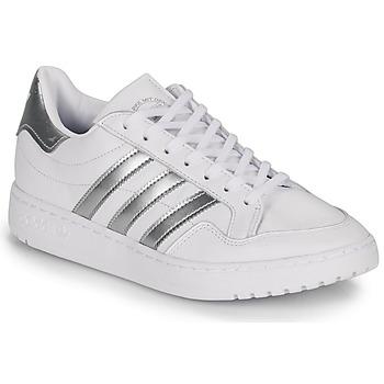 Sapatos Mulher Sapatilhas adidas Originals MODERN 80 EUR COURT W Branco / Prateado