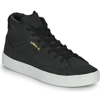 Sapatos Mulher Sapatilhas de cano-alto adidas Originals adidas SLEEK MID W Preto