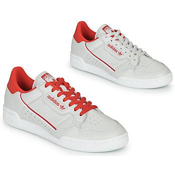 Sapatos Sapatilhas adidas Originals CONTINENTAL 80 Bege / Vermelho