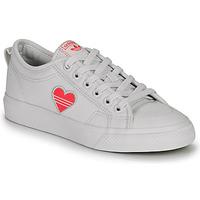 Sapatos Mulher Sapatilhas adidas Originals NIZZA TREFOIL W Branco