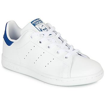 Sapatos Criança Sapatilhas adidas Originals STAN SMITH C Branco / Azul