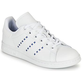 Sapatos Criança Sapatilhas adidas Originals STAN SMITH J Branco / Azul