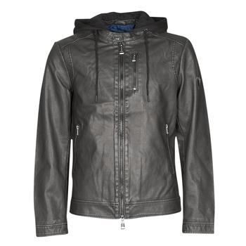 Textil Homem Casacos de couro/imitação couro Guess VINTAGE ECO-LEATHER JKT Preto