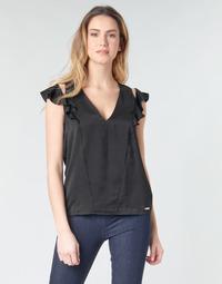 Textil Mulher Tops / Blusas Guess SS DAHAB TOP Preto