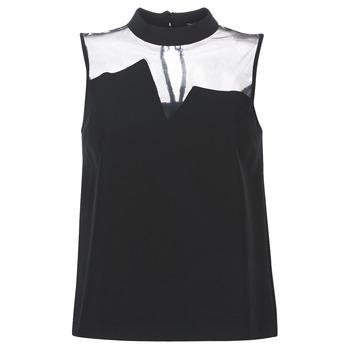Textil Mulher Tops / Blusas Guess SL MAYA TOP Preto