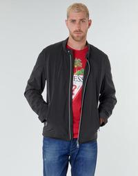 Textil Homem Jaquetas Guess CUMMUTER JACKET Preto