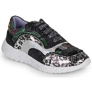 Sapatos Mulher Sapatilhas Irregular Choice JIGSAW Preto / Prateado