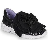 Sapatos Mulher Sapatilhas Irregular Choice RAGTIME RUFFLES Preto