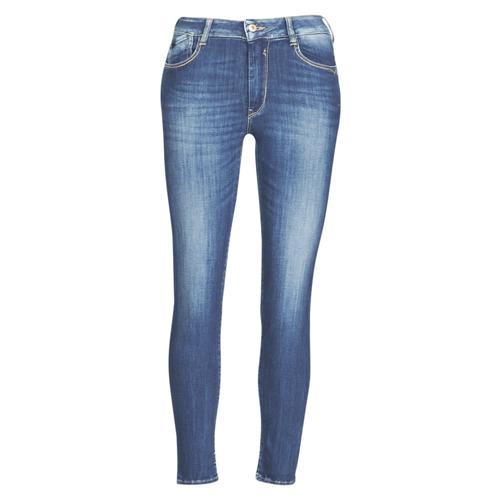 Textil Mulher Calças de ganga slim Le Temps des Cerises PULP SLIM TAILLE HAUTE 7/8 Azul