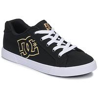 Sapatos Mulher Sapatilhas DC Shoes CHELSEA TX Preto / Ouro