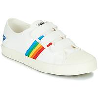 Sapatos Mulher Sapatilhas Gola COASTER RAINBOW VELCRO Branco