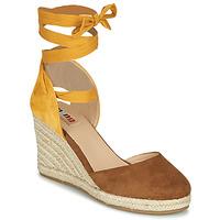 Sapatos Mulher Sandálias MTNG GELLO Castanho / Mostarda