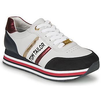 Sapatos Mulher Sapatilhas Tom Tailor  Branco / Azul / Vermelho