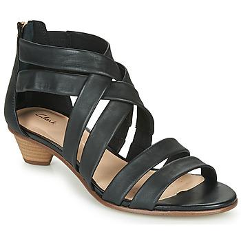Sapatos Mulher Sandálias Clarks MENA SILK Preto