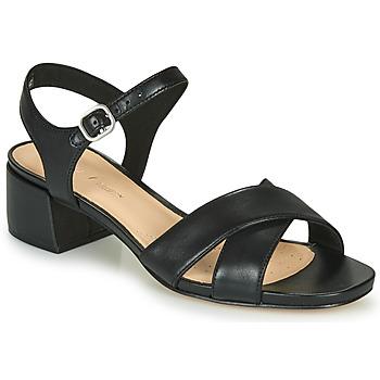 Sapatos Mulher Sandálias Clarks SHEER35 STRAP Preto