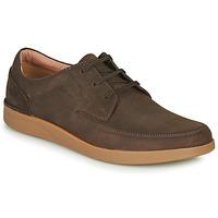 Sapatos Homem Sapatos Clarks OAKLAND CRAFT Castanho