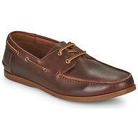 Sapatos Homem Sapatos Clarks PICKWELL SAIL Castanho