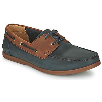 Sapatos Homem Sapatos Clarks PICKWELL SAIL Marinho / Castanho