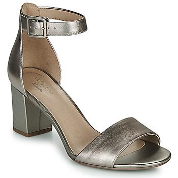 Sapatos Mulher Sandálias Clarks DEVA MAE Prata