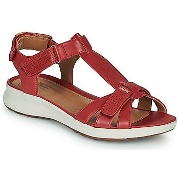 Sapatos Mulher Sandálias Clarks UN ADORN VIBE Vermelho